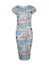 New Womens Ladies Floral Tie Dye Printed Bodycon