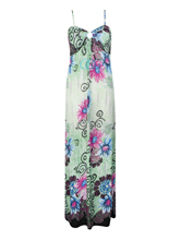 Women Floral Print Ladies Strap Keyhole Padded Summer